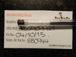 Cannabis Club in Barcelona ID Card for Betty Boop