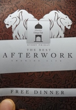 Brochure for Alhmabra - Friday Dinner and Music