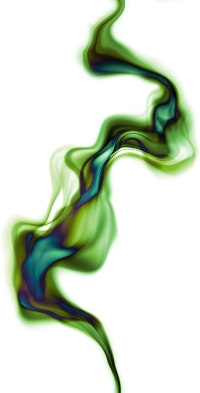 Green Abstract Marijuana Smoke