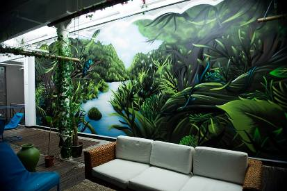 Jungle Wall at the RDM Private Cannabis Club