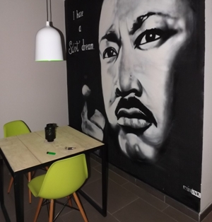 MLK Jr Wall at Sweet Dreams in Barcelona