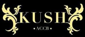 The Kush Cannabis Club Logo in Black