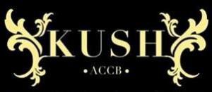 The Kush Cannabis Club Logo in Black