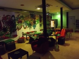 Main lounge area of Smoke Green Cannabis Club BCN