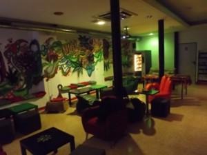 Main lounge area of Smoke Green Cannabis Club BCN