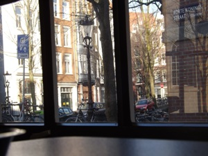 View from one of the tables at Solo in Amsterdam