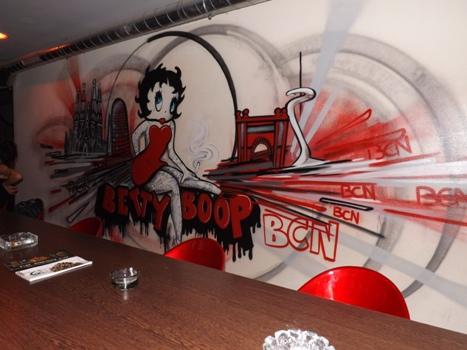 Betty Boop Cannabis Club in Barcelona