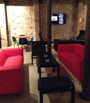 Main lounge at club 420 Barcelona