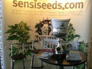 A Sensi Seeds Display at a Trade Show -