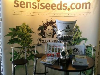 A Sensi Seeds Display at a Trade Show -