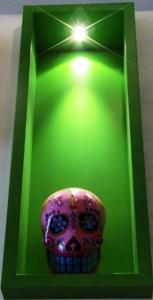 Artwork at LaMente Cannabis Social Club in Barcelona Spain