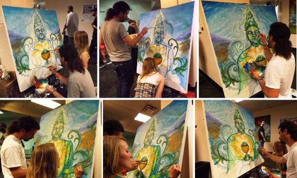 600X Buddha Art Progression at Cannabis Cup