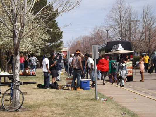 Outside the High Times Cannabis Cup in Denver