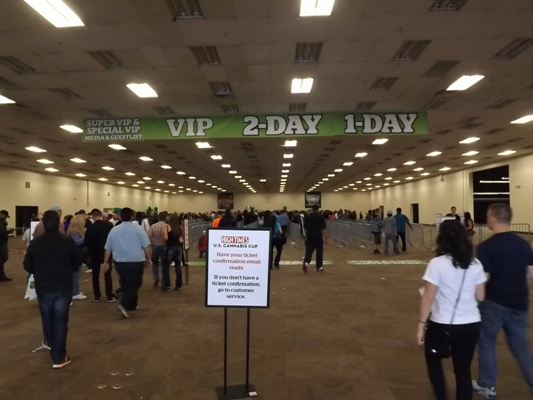 Main lobby at the Cannabis Cup