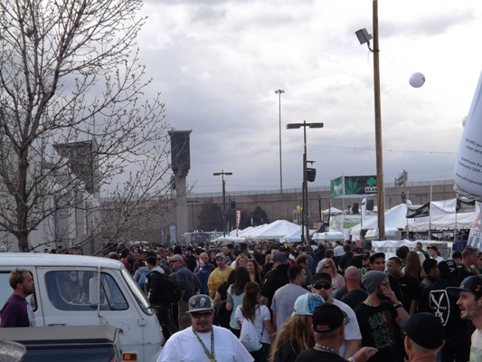Incoming rain at the 2014 Cannabis Cup