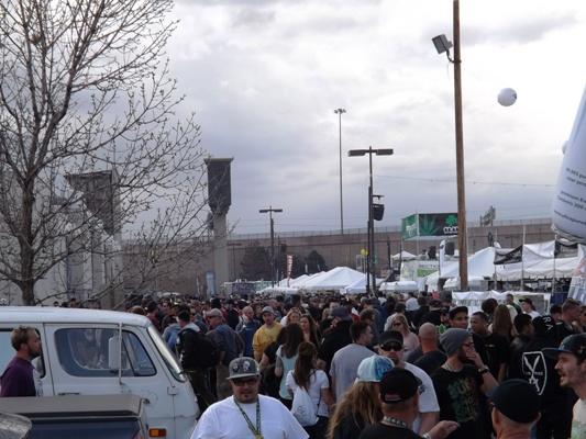 Incoming rain at the 2014 Cannabis Cup