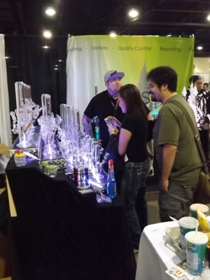 Glassware at the Cannabis Cup in Denver