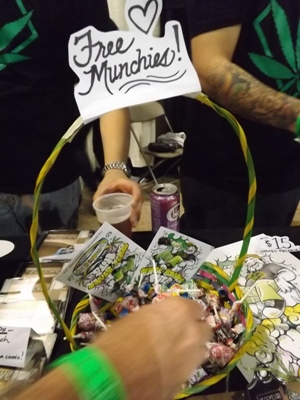 Free munchies at the High Times Cannabis Cup in Denver