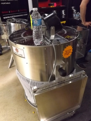 Leaf Trimming Machine at the Cannabis Cup Expo