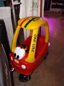 Little red car at the cannabis cup
