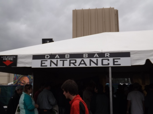 Dab Bar Entrance at the High Times Cannabis Cup