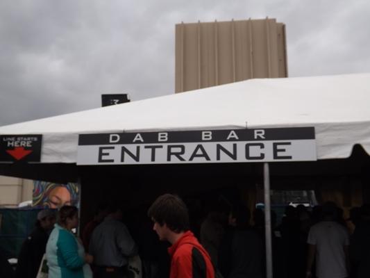 Dab Bar Entrance at the High Times Cannabis Cup