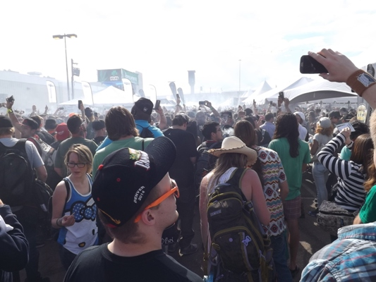 Haze of smoke at the High Times Cannabis Cup