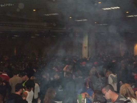Thick smoke at the cannabis cup