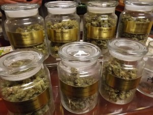 Marijuana selection at Lodo Wellness Center on Wazee St Denver