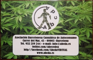 Membership card for ABCDA coffee shop in Barcelona