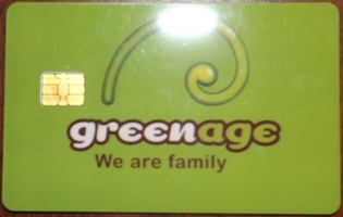 Membership card for Green Age coffee shop in Barcelona Spain