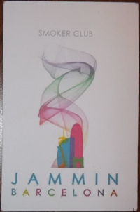 Membership card for Jammin coffee shop in Barcelona