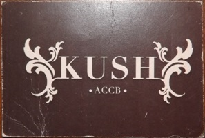 Membership card for Kush coffee shop in Barcelona