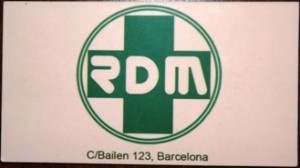 Membership card for RDM coffee shop in Barcelona