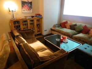 Super comfy seating at La Mesa cannabis club