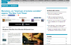 Article about MarijuanaGames.org in Barcelona Televisio