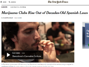 Article in New York Times about MarijuanaGames.org