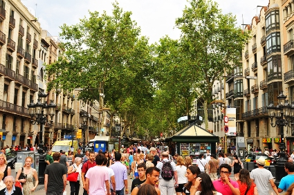 Las Ramblas in Barcelona hosts many cannabis clubs