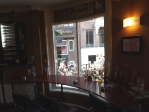 Seating at Voyagers coffee shop