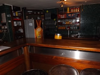 The bar at Reefer Coffeeshop