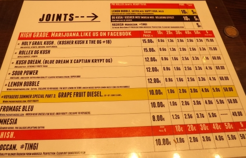 Point Cafe Menu