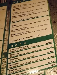 Grey Area weed menu 2