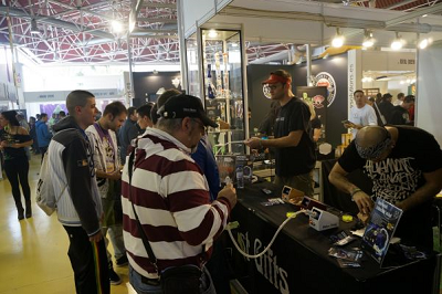Vaping at Spannabis in Barcelona