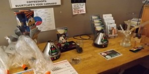 Vaporizing station at the Cannabis College in Amsterdam