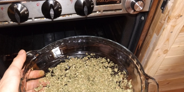 Bake cannabis to decarb at 240 F