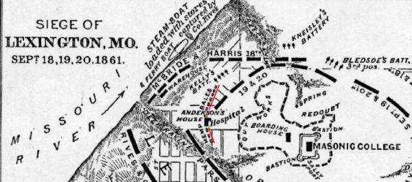 Battle of Hemp Bales Map