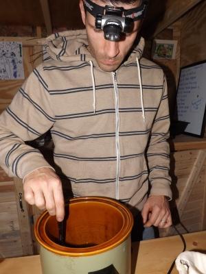 Russ Hudson making coconut cannabis oil