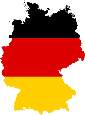 Small colored German flag