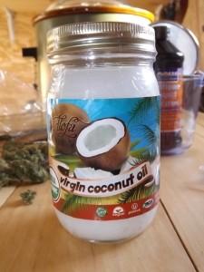 Virgin Coconut Oil Jar Closeup