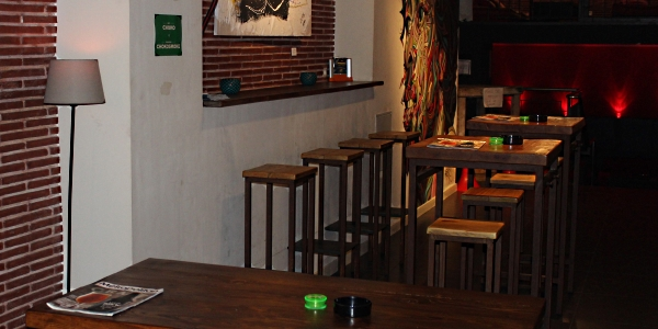Bar tables at Choko cannabis club